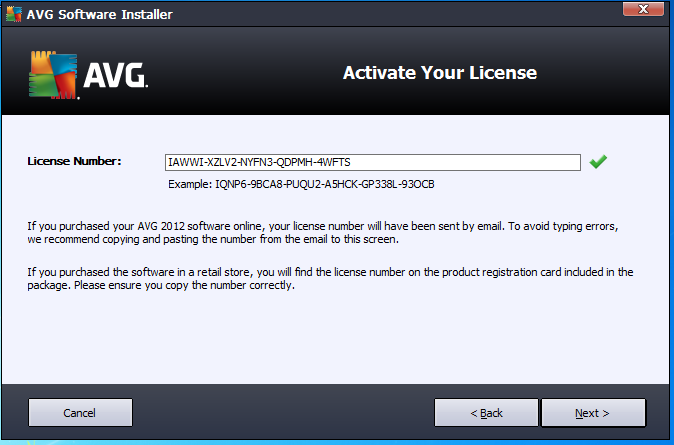 AVG Internet Security 2012 SP1 Build 2180a5034 السيريالات