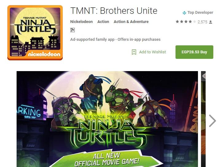 لعبه Ninja Turtles مدفوعه !!!