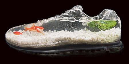 صور لحذاء غريب جدا ورائع عبارة عن حوض سمك