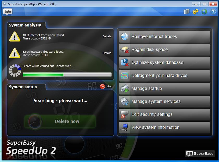 برنامج لتسريع ورفع مستوى الاداء لجهازكSuperEasy SpeedUp 2.0.0